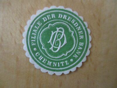 Siegelmarke Willensstark 16065 Filiale Der Dresdner Bank Chemnitz Schnelle Farbe