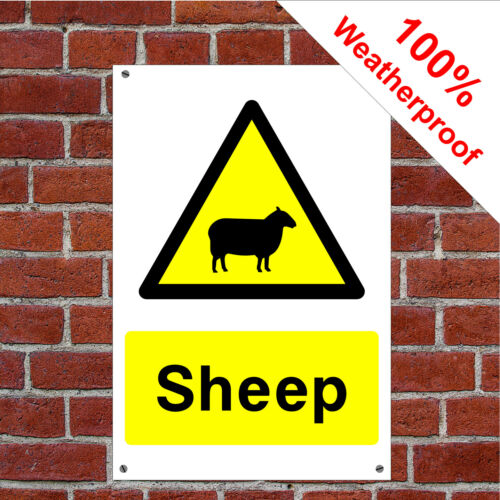 Sheep sign or self adhesive vinyl sticker COUN0009 durable and weatherproof