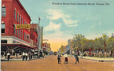 Tampa FL Street View Giddens Clothing Store Front's Bicycles Postcard