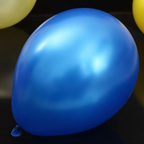 "Original Belbal Dark Blue Metallic 12/"" Latex Balloons Birthday Wedding Party UK"