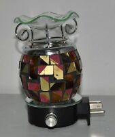 Electric Oil Warmer Burner Wall Plugin Mosaic Nightlight Fragrance Oil Lamp