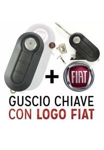 COVER-CHIAVE-GUSCIO-PER-FIAT-500-DELTA-PUNTO-EVO-PANDA-BRAVO-TELECOMANDO-3-TASTI