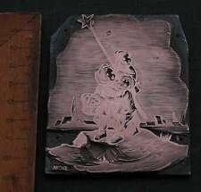 STERNSINGER Galvano Druckstock Kupferklischee Druckplatte copper printing plate