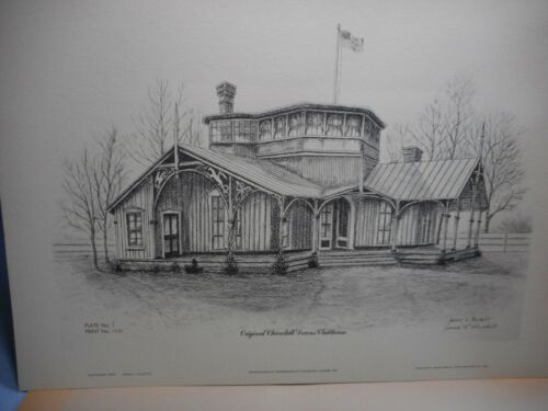 VTG NOS Print By James Puckett CHURCHILL DOWNS CLUBHOUSE Signed /& Numbered 1231