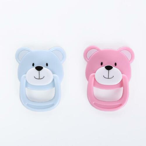 Bear Bebe Magnetic Pacifier Dummy Reborn Baby Doll 2pcs//Set Pink+Blue Nurse Gift