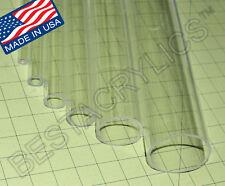 1 34 Diameter 1 12 Id 12 Long Clear Acrylic Plexiglass Lucite Tube