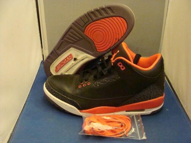 Nike Jordan Retro 3 Crimson desgastado Tamaño 10 bonito ligeramente desgastado Crimson 1952a5