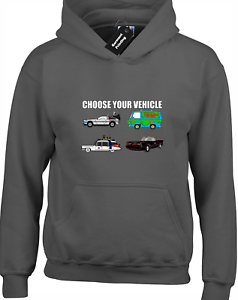 CHOOSE YOUR VEHICLE HOODY HOODIE FUNNY BAT SCOOBY MAN COOL