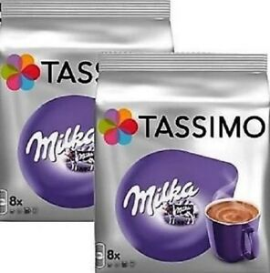 Details About 2 X Packs Tassimo Milka Hot Chocolate T Discs Pods 16 Large T Discs 16 Drinks