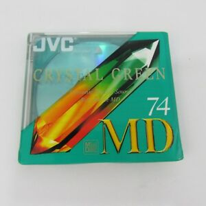 Brand-New-Sealed-Recordable-MiniDisc-MD-74-JVC-Crystal-Green