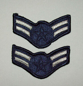 Pair-Small-Vtg-Deadstock-Vietnam-War-Era-1960s-70s-Airman-1st-Class-USAF-Patches