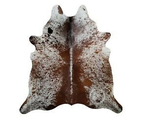 New Brazilian Cowhide Rug Leather Salt And Pepper 6 X8 Cow Hide Ebay