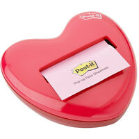 3m Post-it Pop-up Notes 3 X 3 Red Heart Dispenser on sale