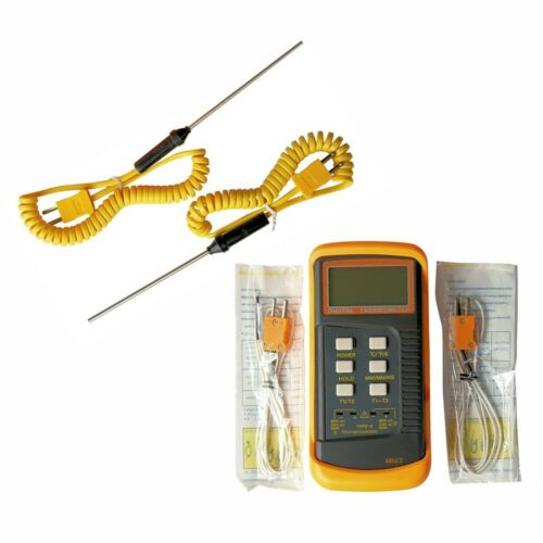 Zweikanaliges Digitales K-Thermoelement Thermometer 6802 II 4x Sonde BGA//HVAC