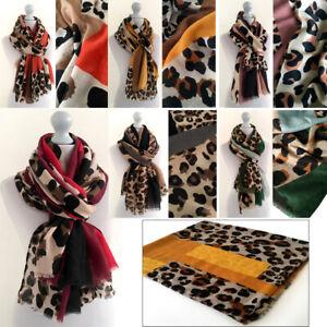 Ladies Leopard Zebra Pint Womens Scarf Soft Feel Fashion Scarves Wrap