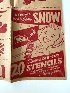1950's Vintage Snow Spray HOWDY DOODY & CLARABELL 20 Christmas Stencils UNUSED !