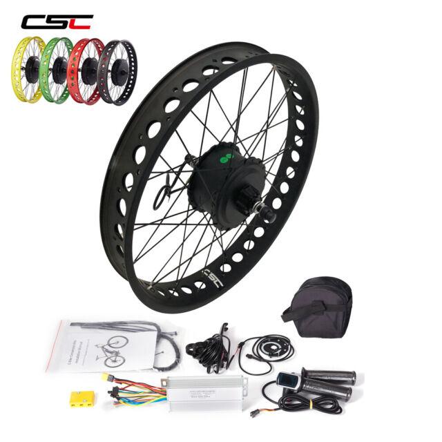 Smart hub Motor Snow Fat tyre electric e Bike Kit 500W 20'' 24'' 26'' color Rim