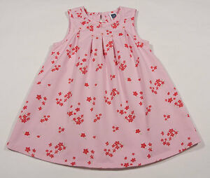 9785d647aa4c BABY GAP GIRLS SIZE 2T DRESS PINK FLORAL CHERRY RED SPRING FLOWER ...