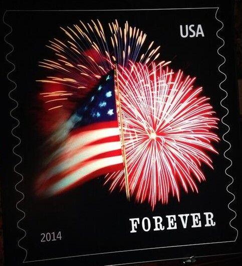 2014 49c The Star-Spangled Banner Fireworks, Coil Scott