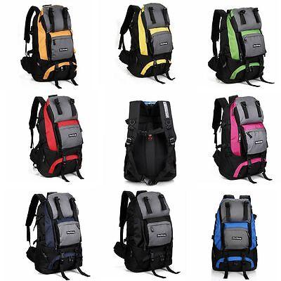 Large Bag Backpack Back Pack Backpack Outdoor Hiking Camping Travel Rucksack Bag