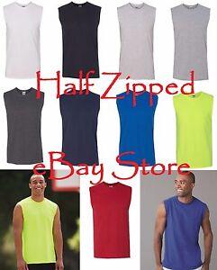 JERZEES Dri-Power Active Sleeveless T-shirt Tank Top 50/50 T-Shirt 29SR S-3XL