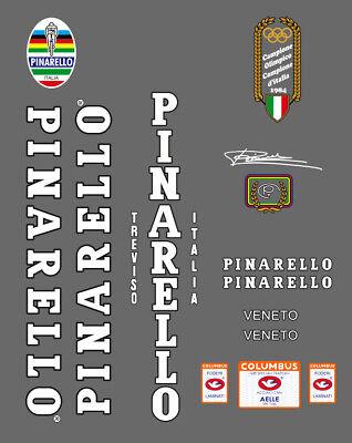 Pinarello Treviso 1985 SL Frame Decal Set White//Black Contour