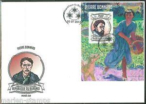 BURUNDI-2013-PIERRE-BONNARD-SOUVENIR-SHEET-FIRST-DAY-COVER