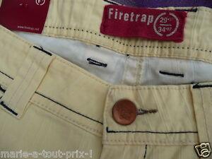 100% De Qualité Firetrap Pantalon Jaune & Bleu 27/34 Valeur 189€ Neuf Avec étiquettes T 36 / 38