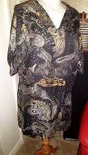 Exquisite See By Chloe Oriental Shift Dress UK 8, US 4.