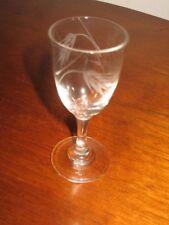"1 Sasaki Wheat Smooth Stem Vintage Crystal Cordial Glass 3 5/8"" Tall Cut Wheat"