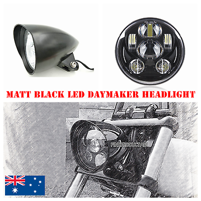 BICYCLE cruiser BULLET LIGHT BLACK with 3 Led Bulb low rider new