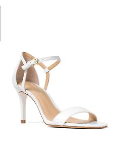 22ba6a3489e6 NIB New Women MICHAEL Michael Kors Simone Dress Sandals Optic White ...