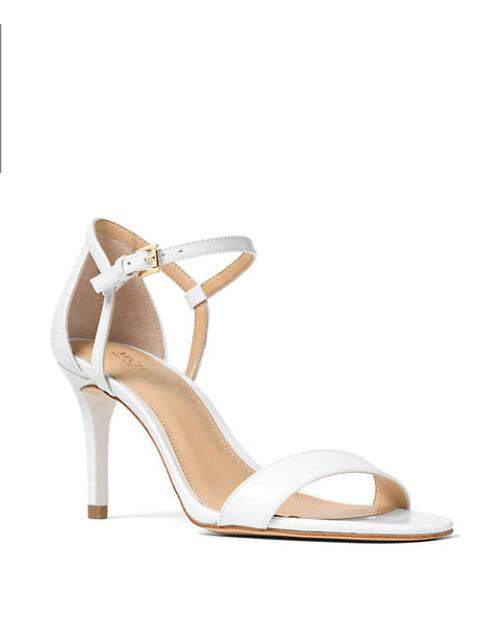6382d68cc1d0 NIB New Women MICHAEL Michael Kors Simone Dress Sandals Optic White Size 7.5