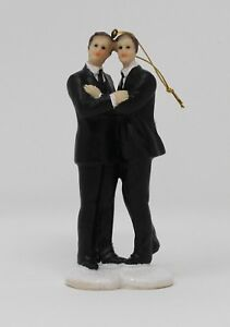 December-Diamonds-Groom-Gay-Couple-Wedding-Cake-Topper-Ornament-4-5-Inch-New
