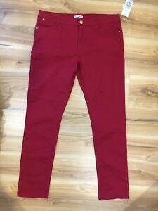 NWT-Target-Hot-Options-Skinny-Ankle-Grazer-Red-Jeans-Size-14-originally-39