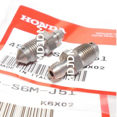 1 set of 2  Oem  SCREWs BLEEDER  45352-S6M-J51 HONDA Honda