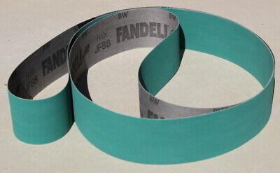 2 x 72 Inch Premium Green Alum Oxide  AO Jflex  Sanding Belts 600 Grit   3pcs