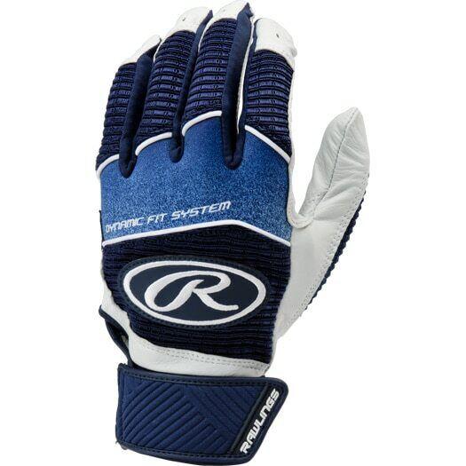 Black Large Rawlings Workhorse Adult Baseball//Softball Batting Gloves