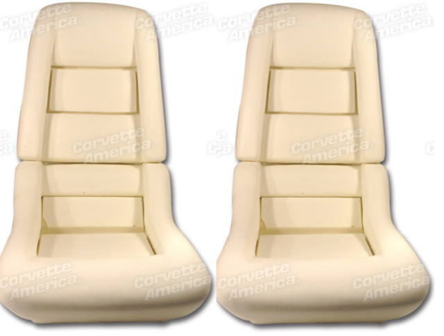 C3 Corvette Seat Foam Set 1978 1982 With 2 Bolster