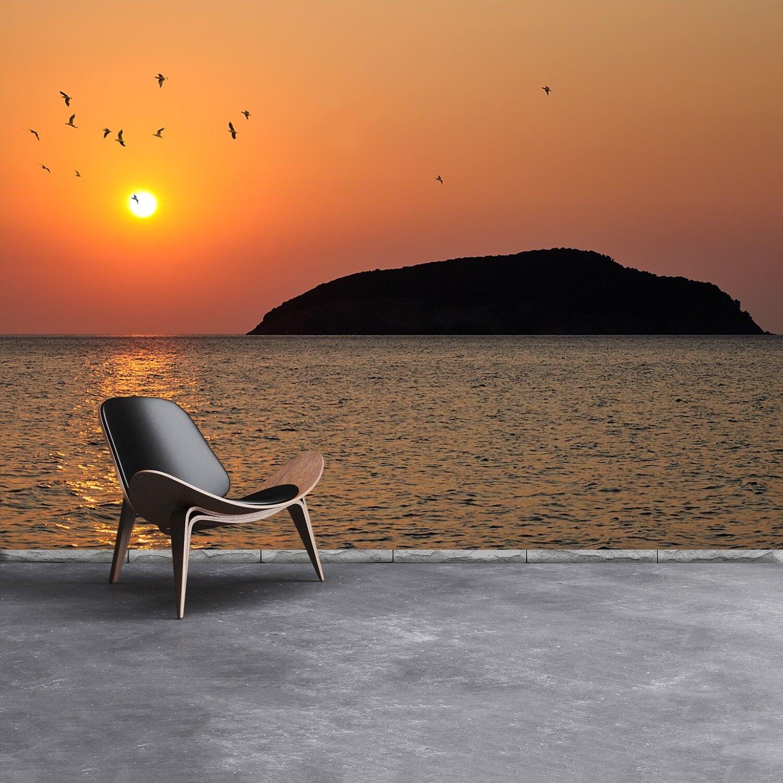 Vlies-Fototapete Fototapeten Tapete aus Vlies Poster Foto Sonnenaufgang Meer