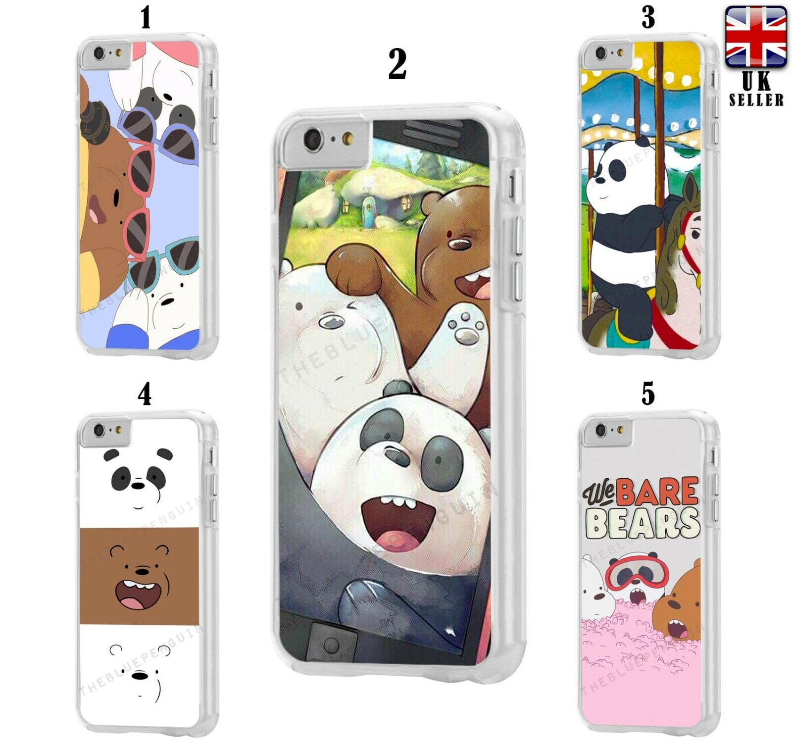 We Bare Bears Cartoon Cute Case For Apple Ipod Touch 5th 6th 7th Generation Ebay