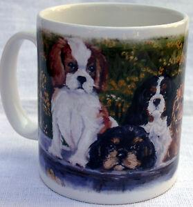 CAVALIER-KING-CHARLES-SPANIEL-DOGS-MUG-WASH-TUB-OIL-PRINT-SANDRA-COEN-ARTIST