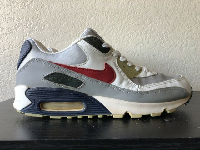 Size 9 - Nike Air Max 90 Leather silver surfer