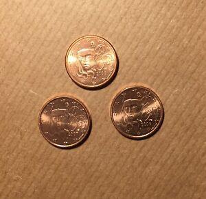 1 CENTIME 2006 2007 2008 EURO FRANCE LOT DE TROIS MONNAIES -