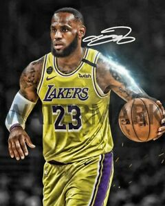 Lebron James Autographed Rp 8x10 Picture Edit Custom Los Angeles Lakers Nba Ebay