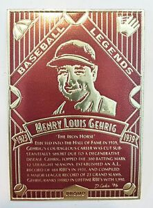Lou-Gehrig-MLB-Baseball-034-Legendary-Foils-034-PROMO-Foil-Card-with-original-envelope