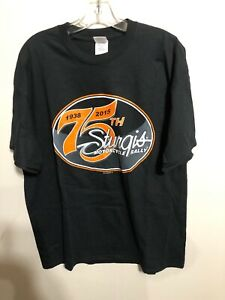 Sturgis-Motorcycle-Rally-75th-Anniversary-Black-Graphic-T-Shirt-XL