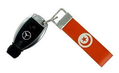 Schlüsselanhänger Schlüssel Auto Moto Band Stoff Flagge Haus Tuning Tunesien Jdm