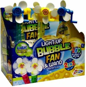 2 Light Up LED Bubble Fan And Wand  Fun For the Summer _NEW - Buxton, United Kingdom - 2 Light Up LED Bubble Fan And Wand  Fun For the Summer _NEW - Buxton, United Kingdom