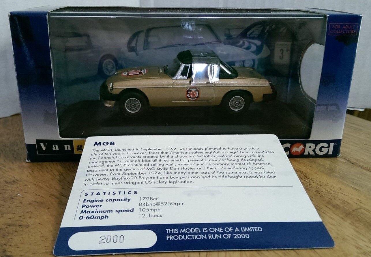 Corgi VA13000 MGB White gold 50th Anniversary Ltd Edition No. 2000 of only 2000